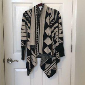 Grey and Black Banana Republic Sweater